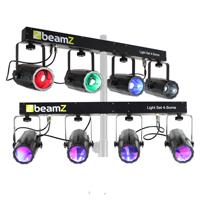 BeamZ 4-Some Moonflower Effect Lighting Rail System, Set of 2