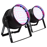 2x PAR 64 Can Disco Colour LED Party DJ Lighting Wall Washer Lights Uplighters