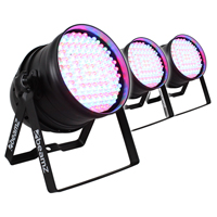 3x Beamz PAR64 LED Wall Uplighters