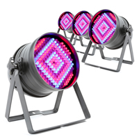 4x BeamZ 151.242 PAR 64 LED Lights