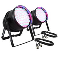BeamZ PAR64 LED Wall Uplighters & Cables Pair