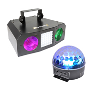 Disco Party Light Kit - LED Disco Ball, Moonflower and Strobe