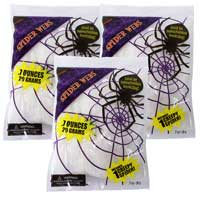 3x Bags of Stretchy Cob Web Decorations