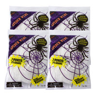 4x Bags of Stretchy Cob Web Decorations