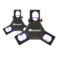 BeamZ Triple Flex LED DMX Scanner Lights, Set of 2