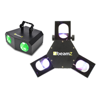 Beamz LED DMX Triple Flex Light + LED Nomia Light