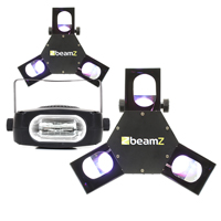 BeamZ Triple Flex LED Scanner Light, Set of 2 with Strobe Light