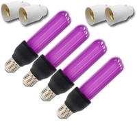 4x UV Bulbs with Bayonet Adaptors