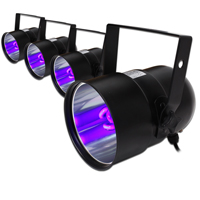 4x BeamZ UV PAR Can Bulb Lights