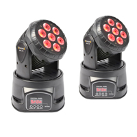 Pair Wash Moving Head Light DJ Disco Banger DMX Pan Tilt 10w QUAD LEDs|MHL-74