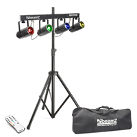 Beamz 4-Some DMX Moonflower Light + Skytec Tripod Stand