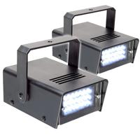 BeamZ Mini Stroboscope Strobe Light Pair