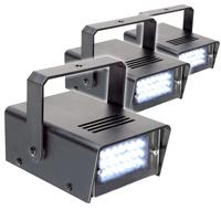 BeamZ Mini Stroboscope Strobe Light, Set of 3