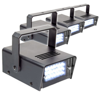 BeamZ Mini Stroboscope Strobe Light, Set of 4