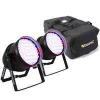 BeamZ Par64 LED Par Can Pair & Soft Case