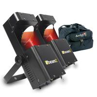 BeamZ Wildflower LED GOBO Scanner Light Pair & Soft Case
