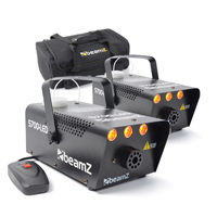 BeamZ S700 Smoke Machine with LED Flame Effect Pair & Soft Case