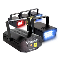 BeamZ Disco Lighting Package with Strobe & Laser Light