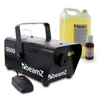 BeamZ S500 Smoke Machine, 5L Yellow Smoke Fluid & Scent