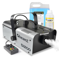 1200 Watt Remote Smoke Machine plus DJ Disco Blue Fluid & Cleaning Solution