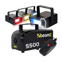 BeamZ S500 Fog Machine & Coloured Strobe Set
