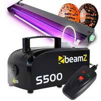 BeamZ S-500 Smoke Machine with UV Tube Light and Balloon