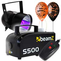 Halloween UV Light & Fog Machine Package