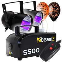 Halloween UV Par Cans & Fog Machine Party Kit