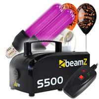 S500 Smoke Machine Package with Two UV Bulbs & Halloween Balloon