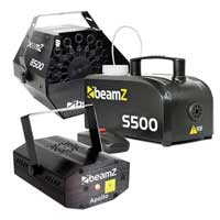 Halloween Party Package with S500 Smoke Machine, B500 Bubble Machine, Fluid & Apollo Laser