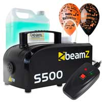 Halloween Party Package with S500 Smoke Machine, 5L Eco Light Smoke Fluid & Balloon