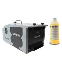 BeamZ ICE1800 Low Fog Machine with 1L Orange Fluid