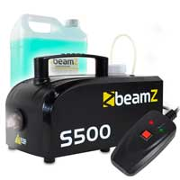 BeamZ S-500 Smoke Machine with 5L Smoke Fluid