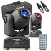 BeamZ Panther25 LED Moving Head Light Pair & Soft Case