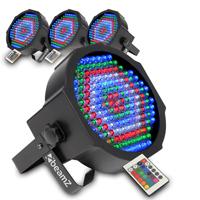 BeamZ FlatPAR LED Par Can Light, Set of 4