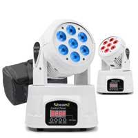 BeamZ MHL-74 LED Moving Head Light White, Pair & Soft Case