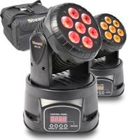 BeamZ MHL-74 LED Moving Head Light Pair & Soft Case