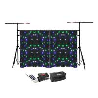BeamZ Sparklewall LED Star Cloth with Lighting Truss Bridge Stand
