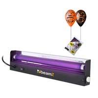 UV Bulb 45cm Blacklight, Halloween Balloon & Cobwebs Package