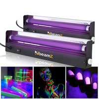 2x UV Blacklight Tube Light Fluorescent Bulb Halloween DJ Disco Party Effect