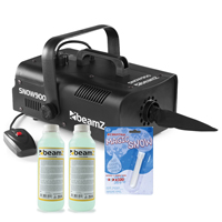Beamz SNOW900 Snow Machine with 500ml Concentrated Fluid and Fake Snow