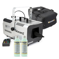 BeamZ SNOW1800 Snow Machine with 500ml Concentrated Fluid & Carry Bag