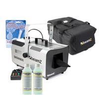 BeamZ SNOW1800 Snow Machine with 500ml Concentrated Fluid & Fake Snow with Carry Bag