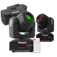 BeamZ Panther40 LED Moving Head Light Pair & Bag