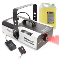 BeamZ S1500LED Smoke Machine with LED LIghts & 5L Eco Fluid