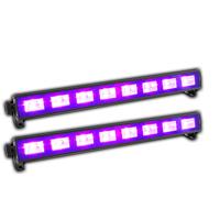LED BAR Black-Light UV Tube Ultraviolet Strip Lighting Mobile DJ Disco Party x2