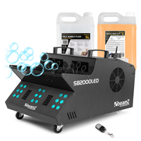 BeamZ SB2000LED Smoke & Bubble Machine with 5L Fluid Set