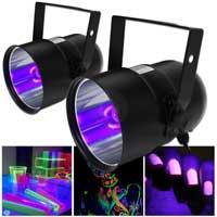 2x BeamZ UV PAR Can Bulb Light