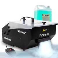 Beamz ICE1200 DJ Low Fog Machine Dry Ice Effect Smoke & 5L Fog Liquid UK Stock