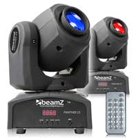 BeamZ Panther25 LED Moving Head Light, Set of 2